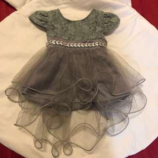 Grey baby dress tutu