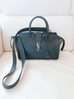 🈹🈹🈹 🔥🔥🔥 YSL SMALL DOWNTOWN CABAS BAG IN BLACK LEATHER