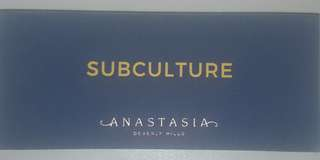 Subculture Eye Shadow Palette.