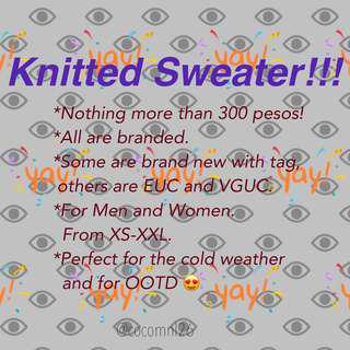 Knitted Sweater Collection SOON!