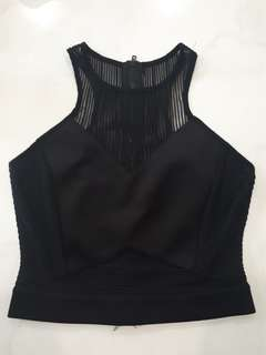 BLACK INIVISIBLE TOP
