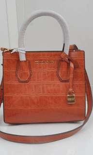 New Mk 鱷魚紋牛皮bag
