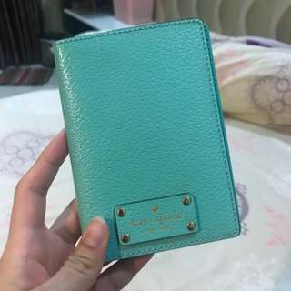 Kate Spade Passport Holder Leather Turqoise