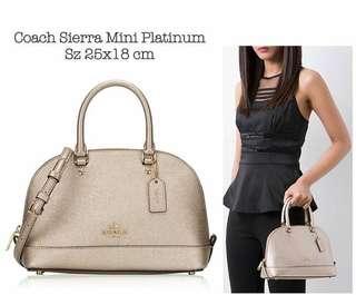 Coach Mini Sierra PLATINUM