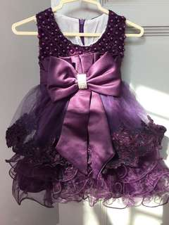 Lace Baby Girl Gown / Dress (Royal Purple)