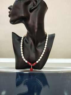 全新純天然珍珠項鍊💕賠售含運