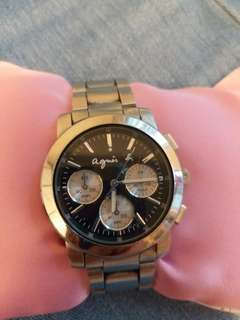 used Agnes b watch in good condition