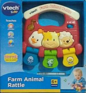 Farm animal rattle