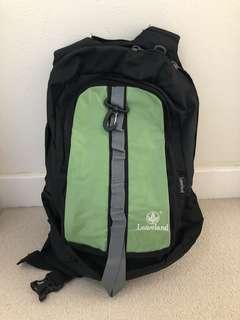 Brand new Leaveland green hiking backpack