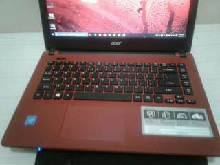 acer slim 6th gen Red laptop very smooth 14-inch hd led