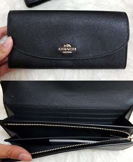 Coach Envelope Wallet Black