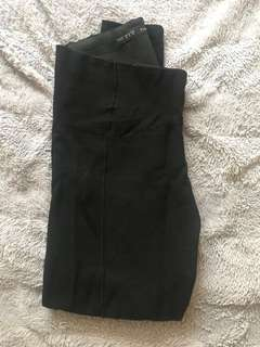 Zara black leggings - M