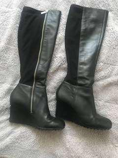 Michael Kors wedge boots Sz 7.5
