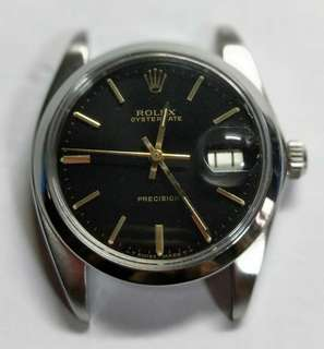 Authentic Rolex 6694 black dial