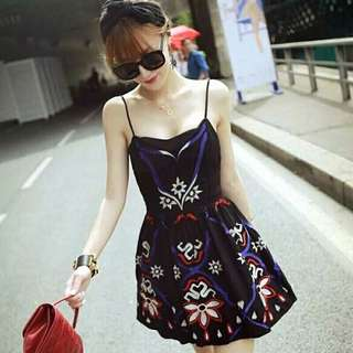 High-quality embroidered dress