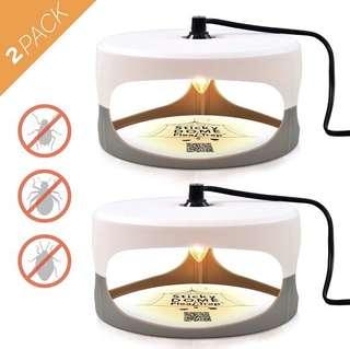 (168) Aspectek Sticky Dome Flea Trap with 2 Sticky Discs.