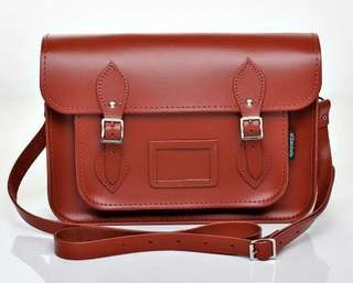Zatchels Red Genuine Leather Satchel