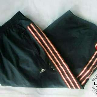 ADIDAS Dark Gray 3-Striped Shorts (Calf-Length)