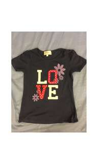 Girls Cotton LOVE T-Shirt