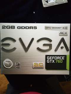 EVGA GTX 760 SC 2GB DDR5