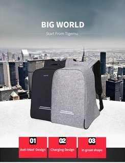 Tas Ransel Tigernu T-B3213 Tas anti air dan anti maling 💯 % ORI