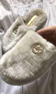 Michael Kors fuzzy slippers (size 8)