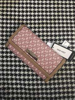 Nine West It Girl Long Wallet Pink and Tan