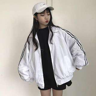 striped bomber jacket