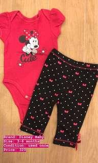 Disney baby onesies set