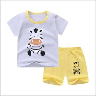 Grey Horse (mix any design) Short-Sleeved Suit Cotton Children - Min Qty 3 Pairs