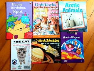 英文童書6本