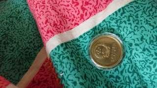 長城紀念幣 一毫,二毫,五毫, 一元 1980年至 1986年