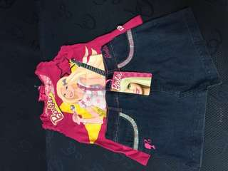 BN with Tag (Authentic) Barbie Sleeveless  and Skirt