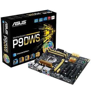 Asus P9D-WS Intel LGA1150 Dual server-grade Intel LAN ATX Server Workstation Motherboard, entry-level Workstation Software certified