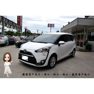 【小蓁嚴選】2017年SIENTA 僅跑7千/頂級影音/衛星導航/倒車顯影~就是新車二手價!