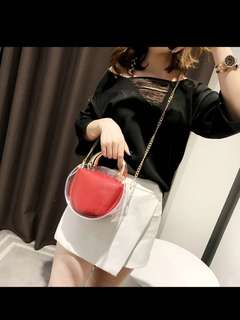 2018 Hot Sale exquisite Transparent Bag High Quality genuine brands Shoulder bags Day-to-day shopping for women