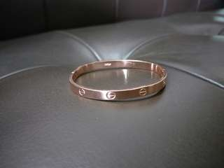 Cartier Inspired Classic Rose Gold Bangle
