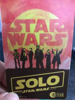 🚚 Solo Star Wars Ezlink card Limited Edition