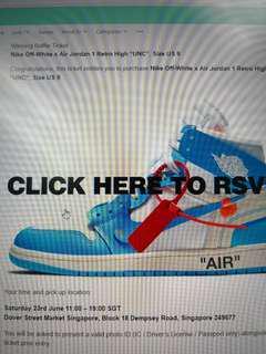 "Off-white x Nike Air Jordan 1 Retro ""UNC"""
