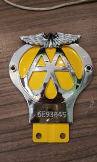 Badge Automobile AA vintage vintage bike scooter car