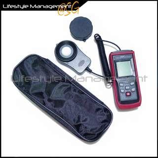 Digital Light Meter Lux/FC Photometer 0.1 lux resolution illuminance/lm/ ambient/visible/lumen/foot candle  Digital Light