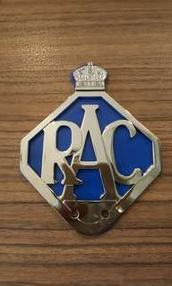Badge RAC vintage bike motorcycle scooter car