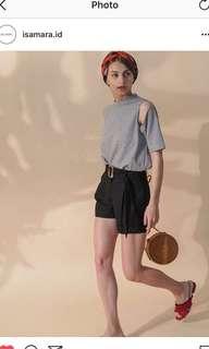 ISAMARA Black Cuban Shorts