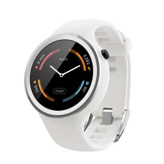 Moto 360 Sport 2nd Gen White Smartwatch with Original and Complete Packaging