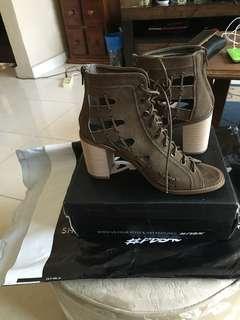 Green block heels