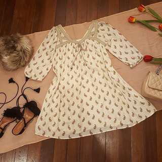 Bohemian Cotton Babydoll Dress