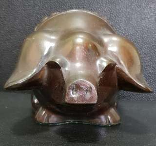 Vintage solid brass Piggy Bank