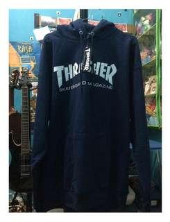 Thrasher Logo Navy Blue Hoodie Original