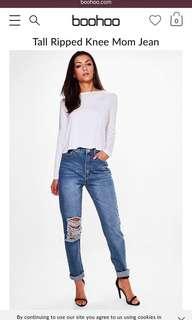 Boohoo mom jeans - tags still on