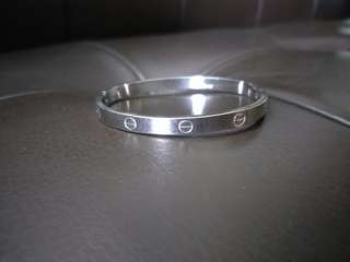 Cartier Inspired Classic Silver Bangle